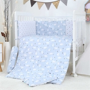 Minimoto White Bear Forest Series 10pcs Bedding Set YB9015