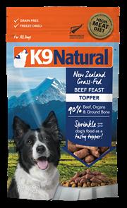 K9 Natural Topper 冷凍脫水狗糧佐餐品 - 牛肉 142g
