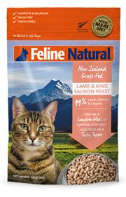 K9 Feline Natural 無穀物冷凍脫水貓糧 - 羊肉三文魚盛宴