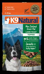 K9 Natural Topper 冷凍脫水狗糧佐餐品 - 羊肉 142g